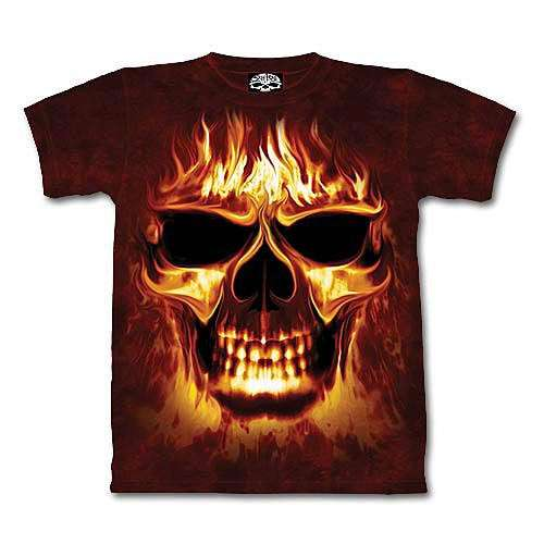 Skull Fire Short Sleeve Shirt