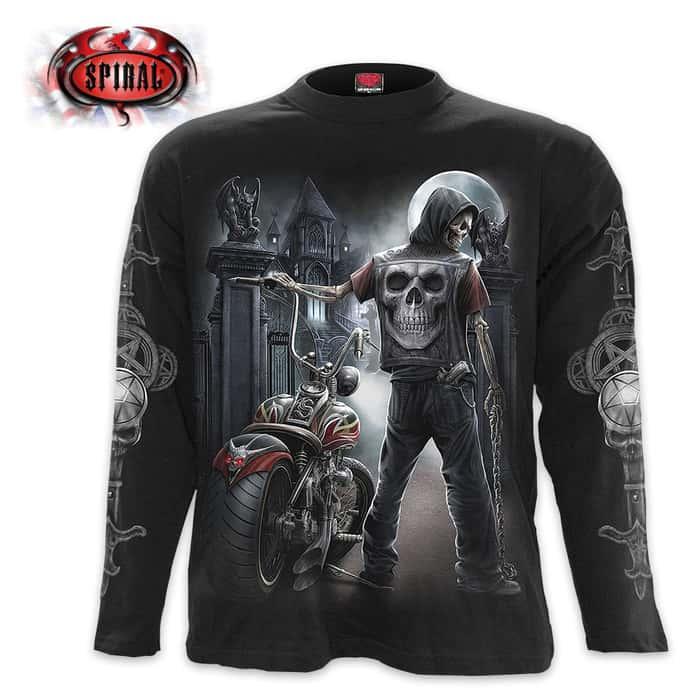 Night Church Black Long-Sleeve T-Shirt