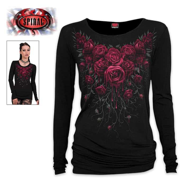 Women's Blood Rose Long Sleeve Shirt