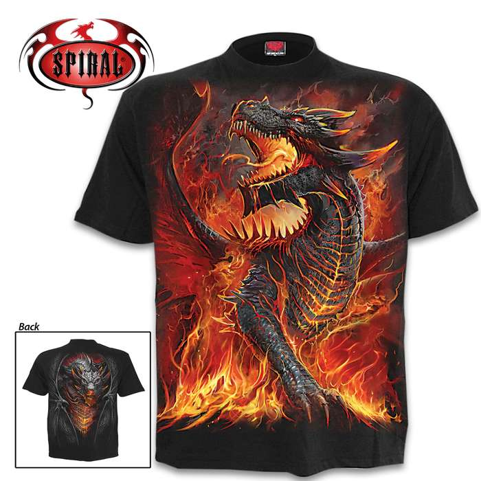 Draconis Black Short-Sleeved T-Shirt - Top Quality Cotton Jersey Material, Azo-Free Reactive Dyes, Original Artwork
