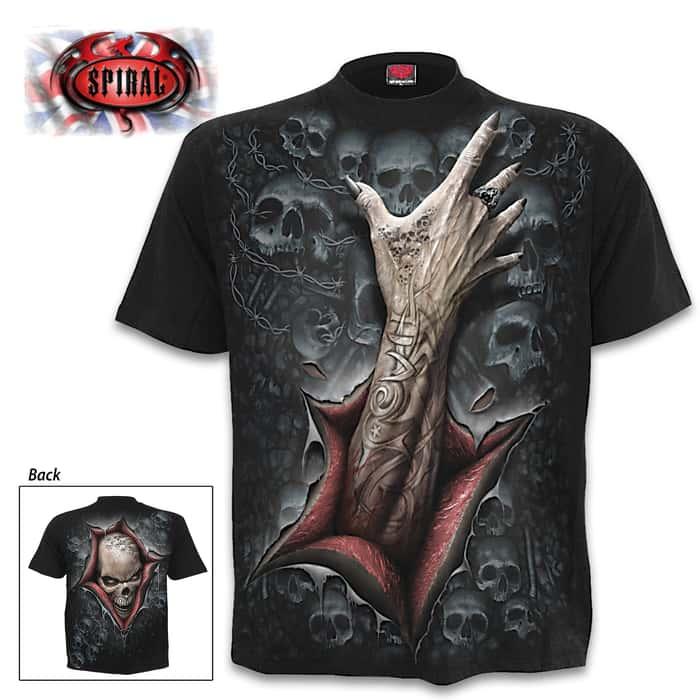 Strangler Black Short Sleeved T-Shirt - Top Quality Cotton Jersey Material, Azo-Free Reactive Dyes, Original Artwork