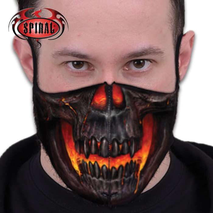 The reusable and washable Skull Lava Protective Face Mask is perfect for cycling, camping, workers and daily use