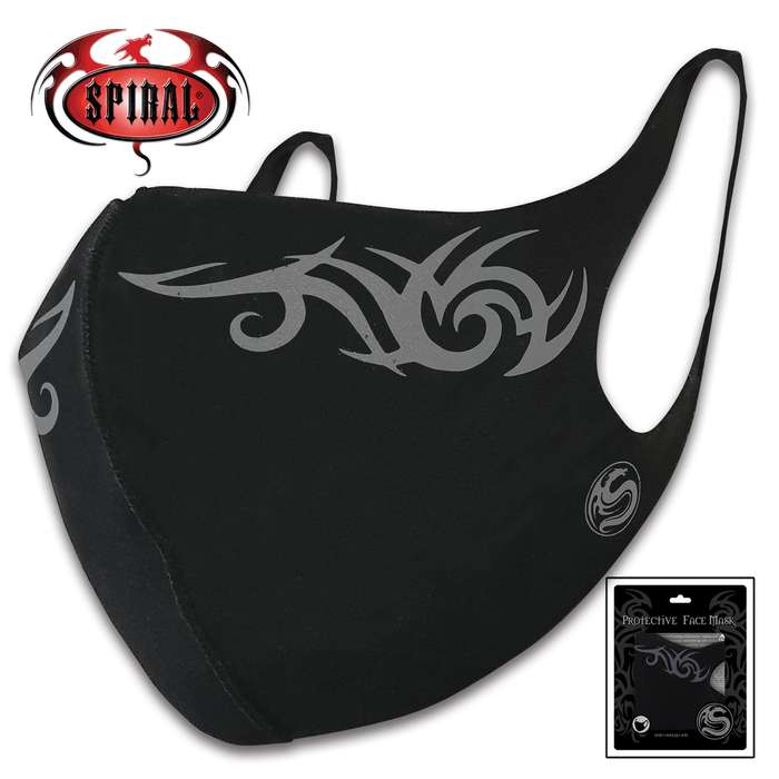 The reusable and washable Tribal Protective Face Mask is perfect for cycling, camping, workers and daily use