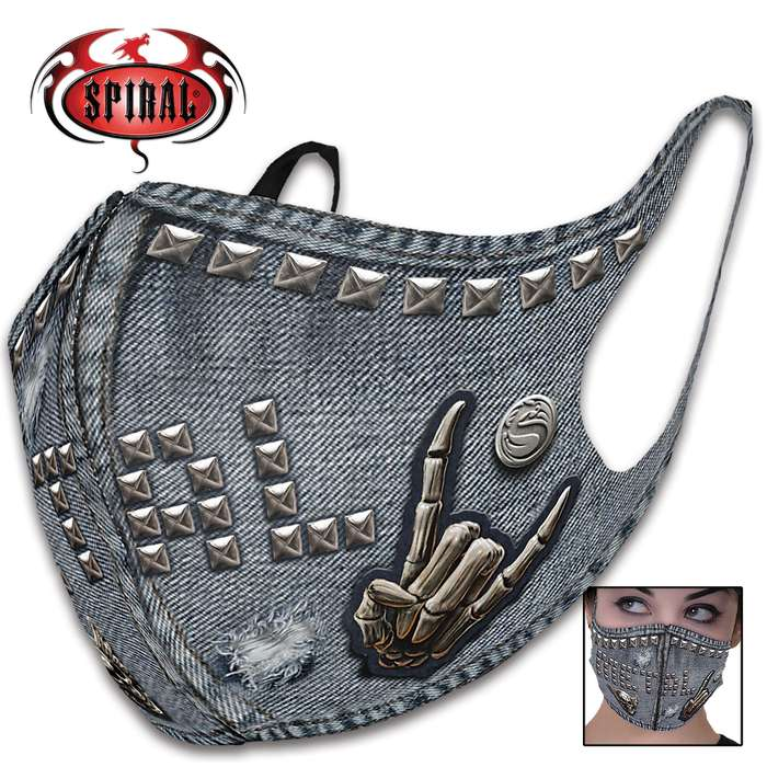 The reusable and washable Thrash Metal Protective Face Mask is perfect for cycling, camping, workers and daily use