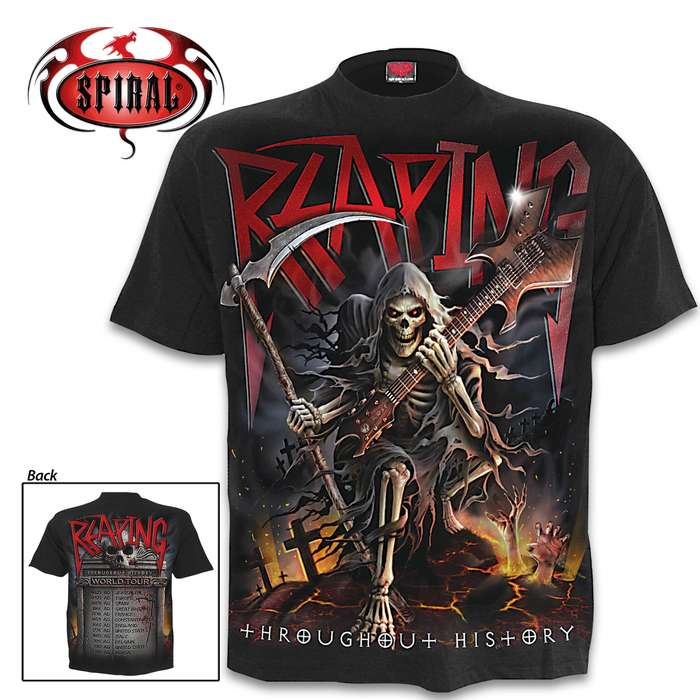 Reaping Tour Black Short-Sleeved T-Shirt - Top Quality Cotton Jersey Material, Azo-Free Reactive Dyes, Original Artwork