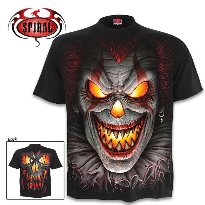 Fright Night Black Short-Sleeved T-Shirt - Top Quality Cotton Jersey Material, Azo-Free Reactive Dyes, Original Artwork