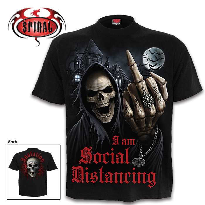 Show the world you are obeying the only rule you have ever truly believed in with this Social Distance T-Shirt