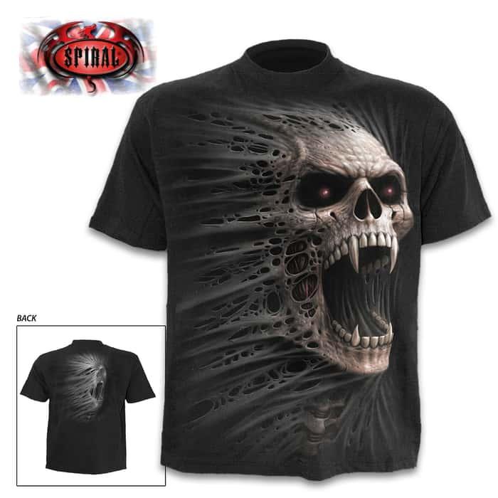 Cast Out Black T-Shirt - Top Quality 100 Percent Cotton, Original Artwork, Azo-Free Reactive Dyes
