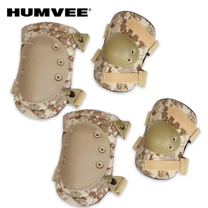 Humvee Knee & Elbow Pad Set Desert Camo