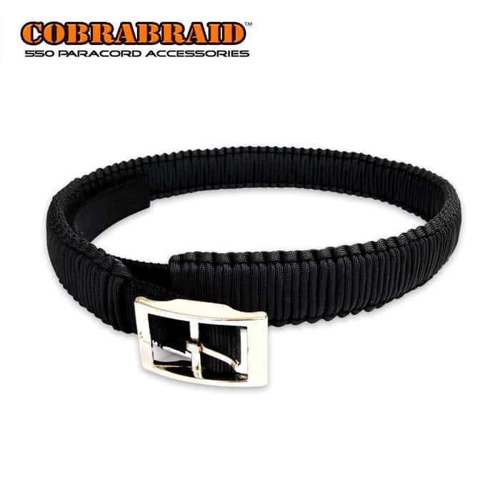 Cobrabraid 550lb Paracord Belt Black