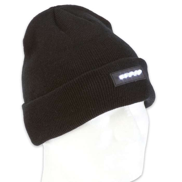 Stocking Cap with Built-In LED Lights