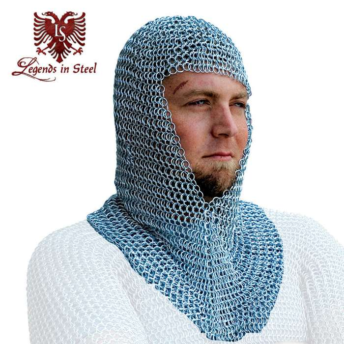 18 Gauge Chain Mail Hood Renaissance Fair Costume