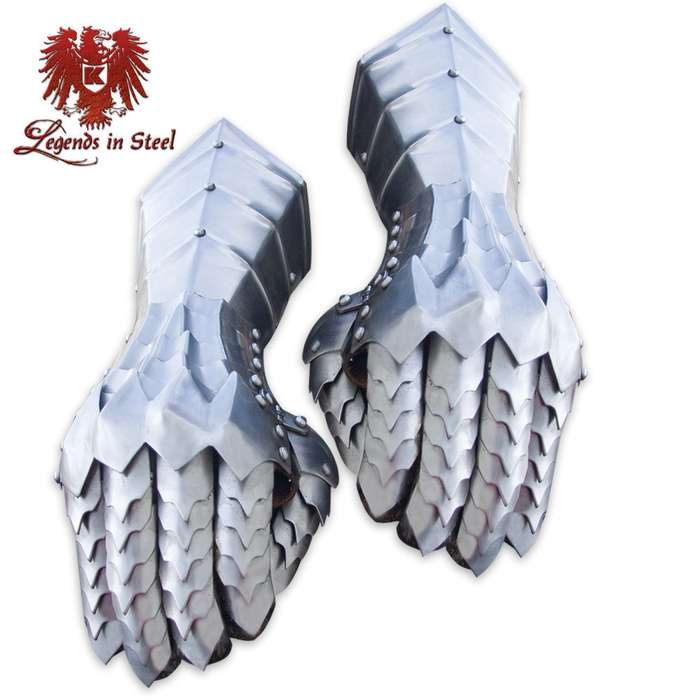 Legends in Steel Riveted Steel Gauntlets Hand Amor