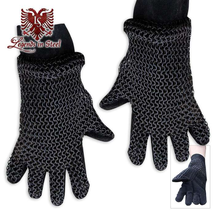Legends in Steel Chainmail armor gloves