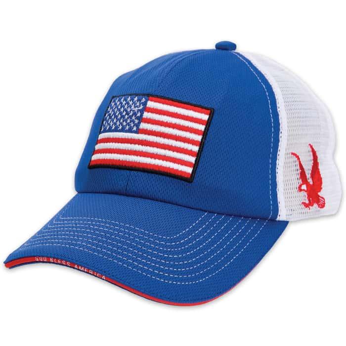 American Flag Trucker Style Cap - Hat