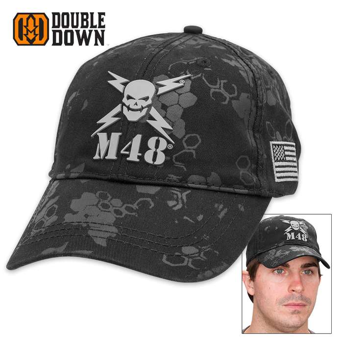 "Exclusive ""M48 Camo"" Cotton Caps - Black, Sand, Olive Drab"
