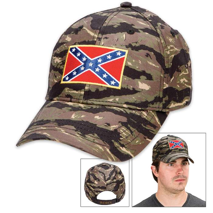Double Down Rebel Flag Camo Cap - Hat