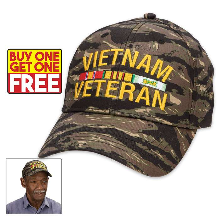 This hat makes an excellent gift for a veteran and, with BOGO, you get two for the price of one!
