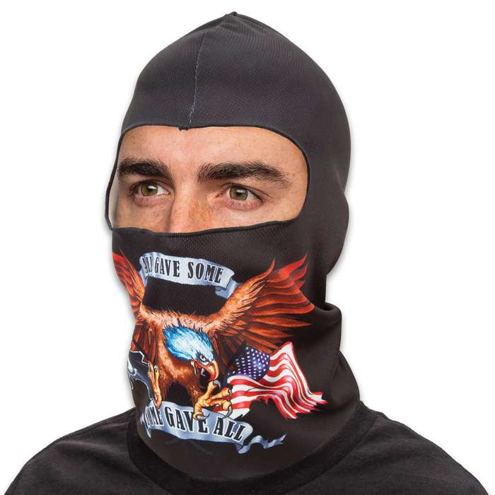 POW Lightweight Balaclava Facemask - Soft And Stretchy Polyester Construction, Breathable, 3D Digital Printed - One Size Fits Most