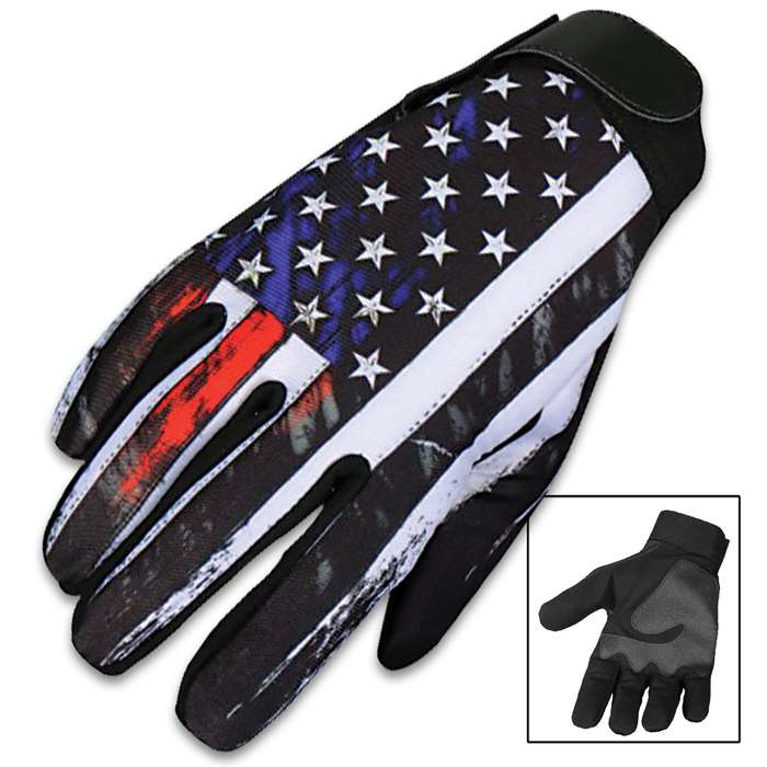 Our Vintage American Mechanic's Gloves are a great alternative to traditional leather gloves and feature a vivid, original Hot Leathers design