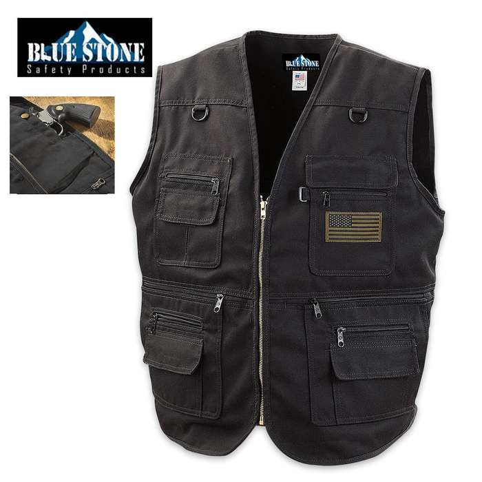 Blue Stone Black Concealment Vest