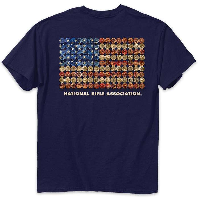 Buckwear NRA Shot Gun Flag Navy T-Shirt
