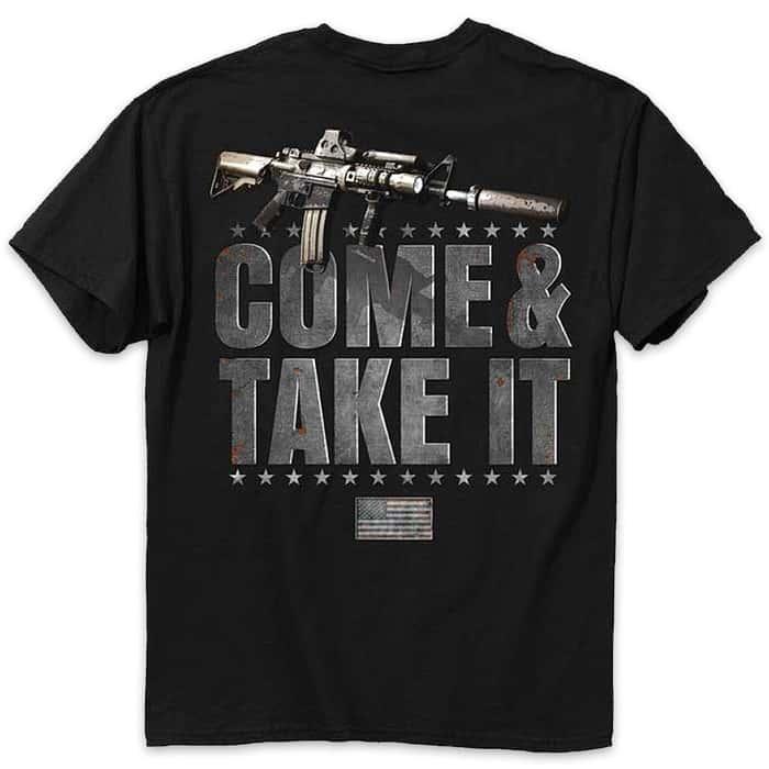 Buckwear Come And Take It Black T-Shirt