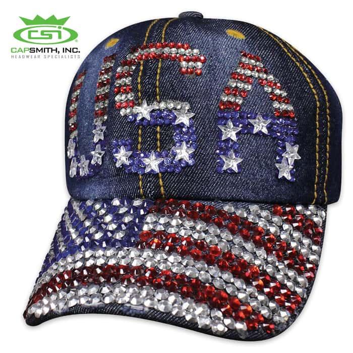 USA Denim Bling Cap - Hat