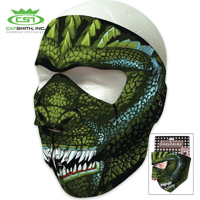 King Of Lizards Neoprene Face Mask