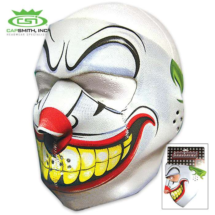Evil Clown Neoprene Face Mask
