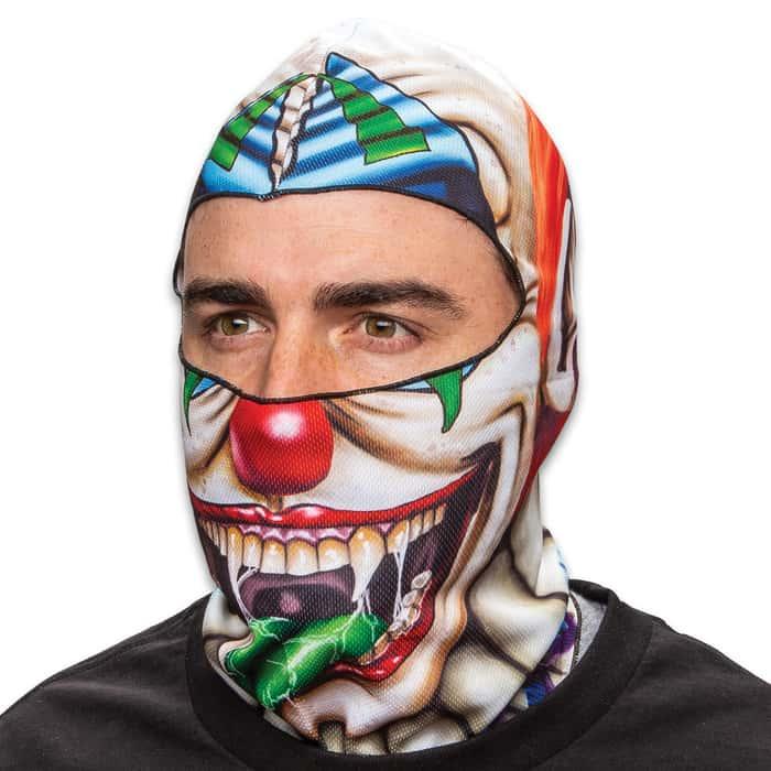 Creepy Clown Fleece Face Mask - Lightweight