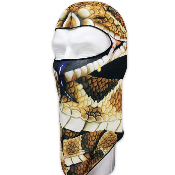 Snake FLeece Face Mask - Lightweight