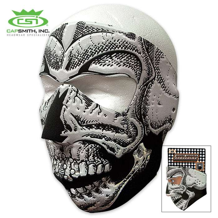 3D Skull Neoprene Face Mask