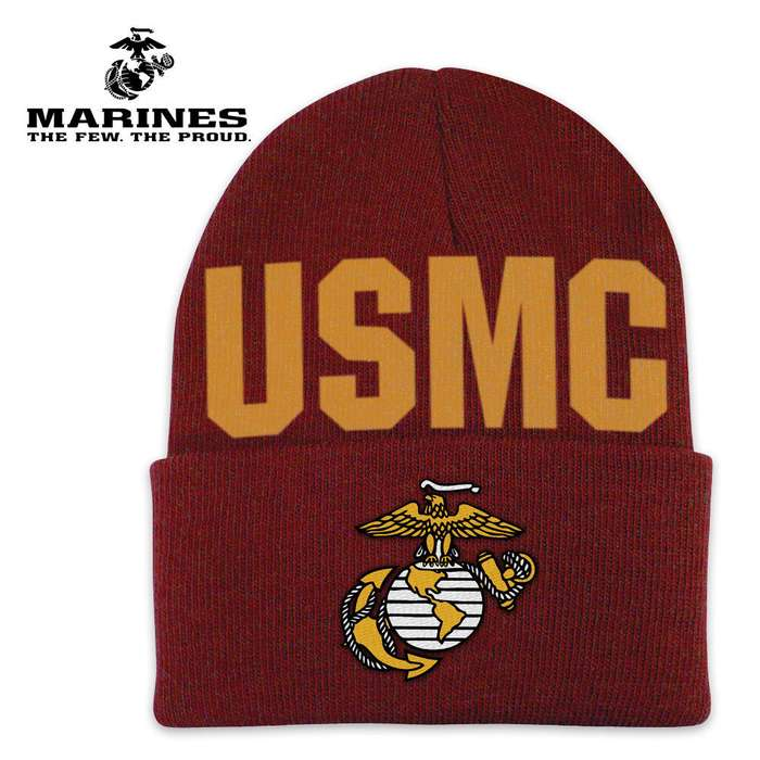 Marines Color Cuff Beanie Hat