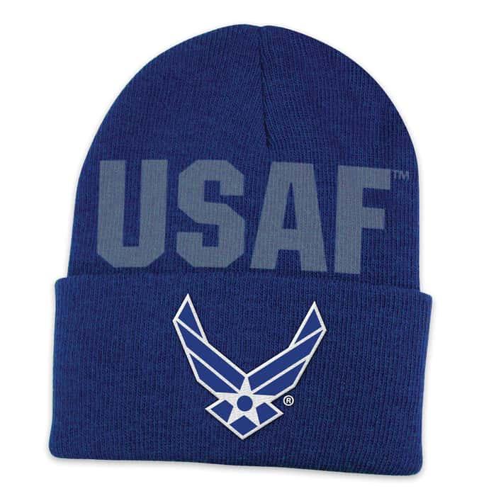 Air Force Color Cuff Beanie Hat