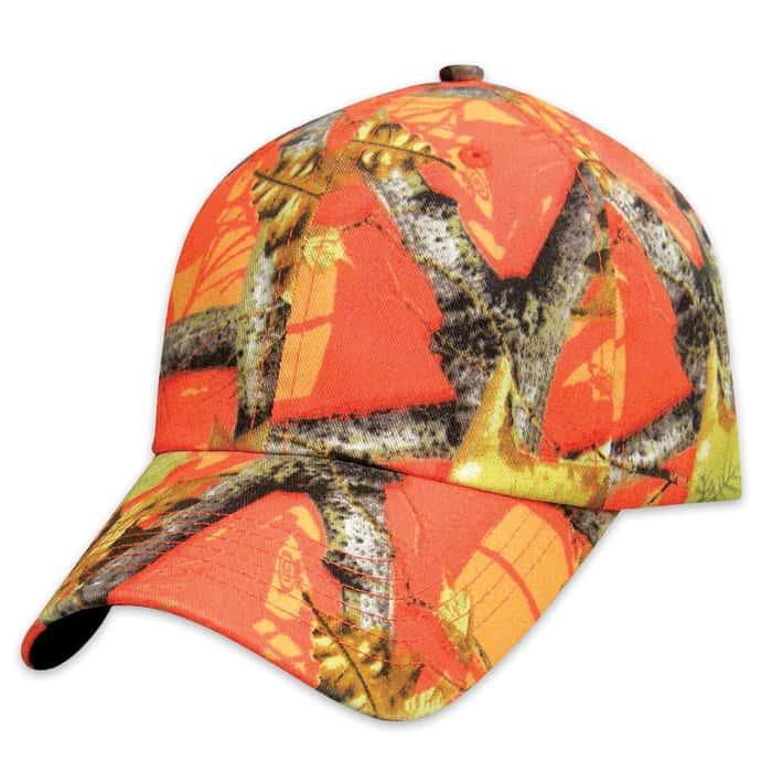 Hunting Camp Orange Camo Cap - Hat