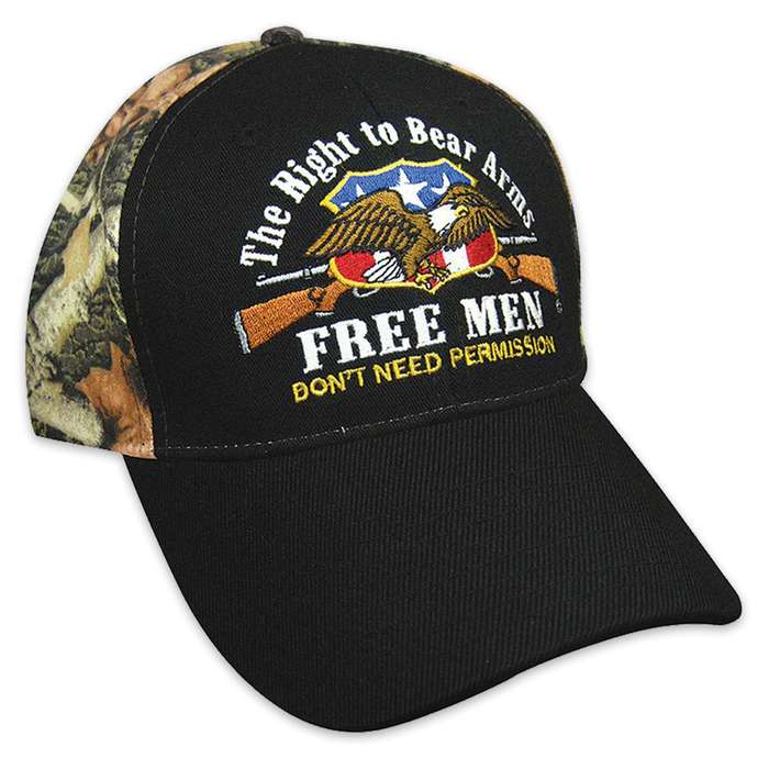 Free Men Do Not Need Permission Blk/Camo Hat