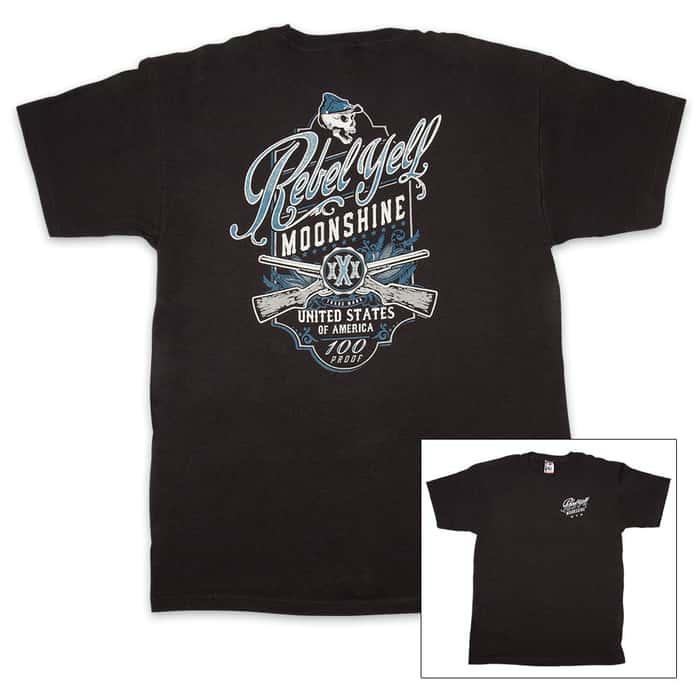 Rebel Yell Moonshine Black T-Shirt