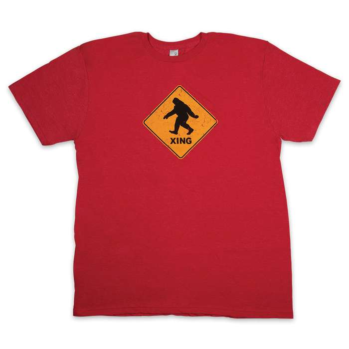 Bigfoot Xing Heather Red T-Shirt