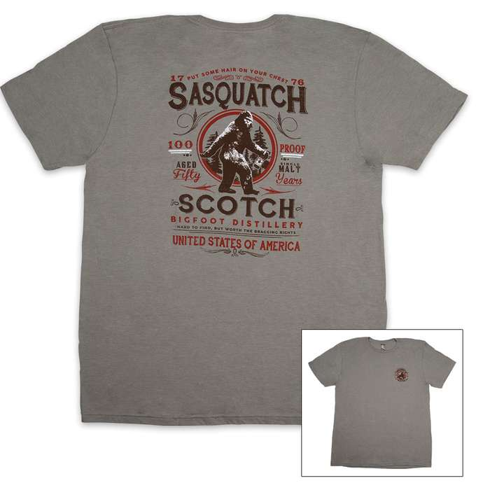 Sasquatch Scotch Heather Gray T-Shirt