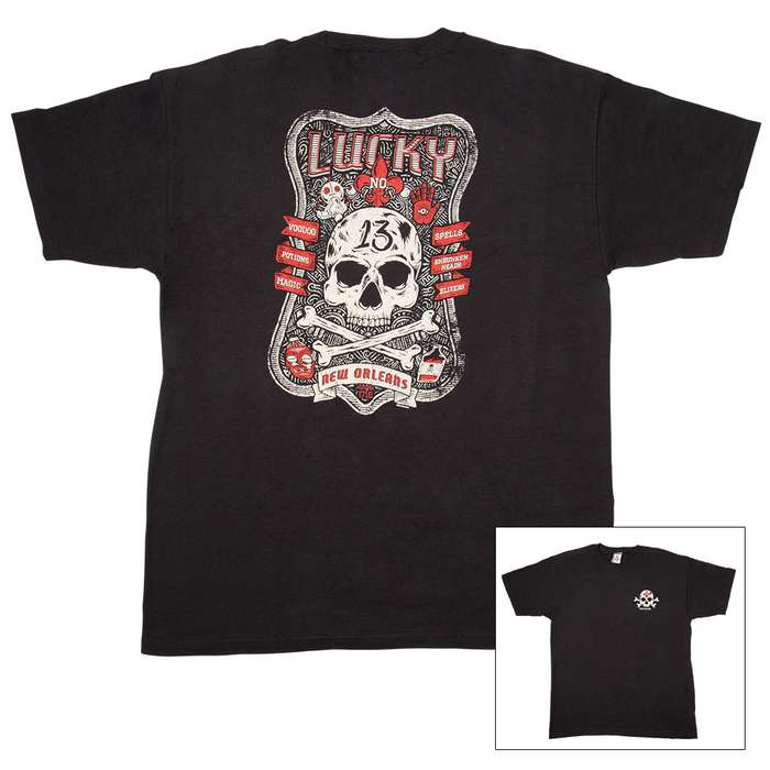 Lucky New Orleans Black T-Shirt
