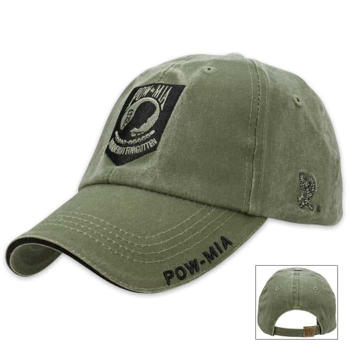 Eagle Crest POW MIA OD Green Cap - Hat