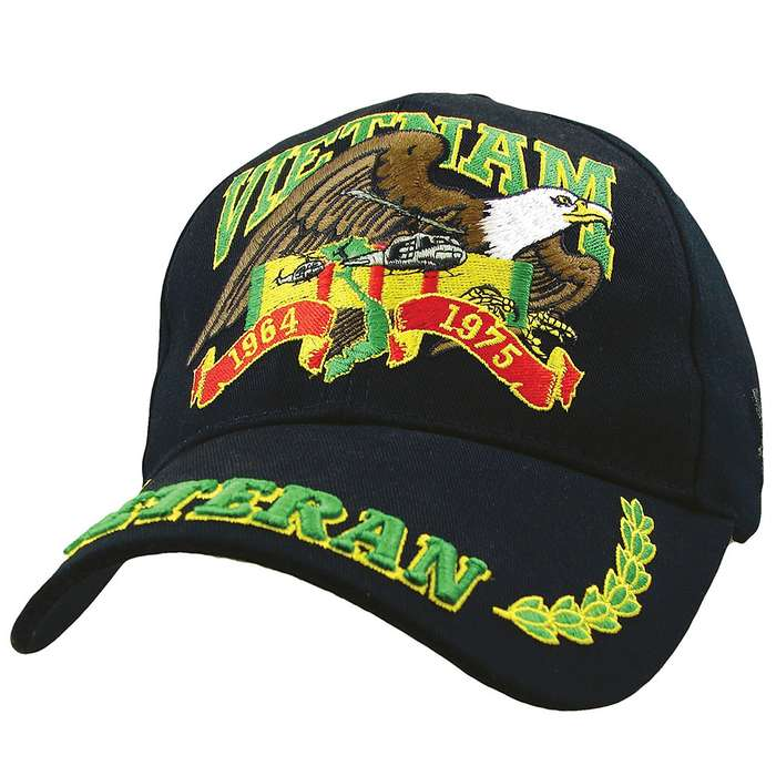 Black Vietnam Veteran Ball Cap