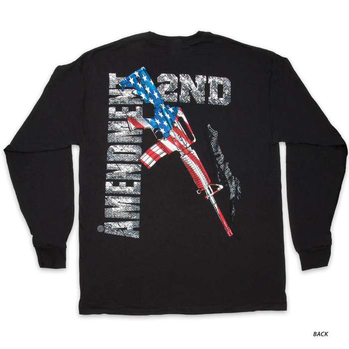 AR-15 Second Amendment Flag T-Shirt - Long-Sleeve