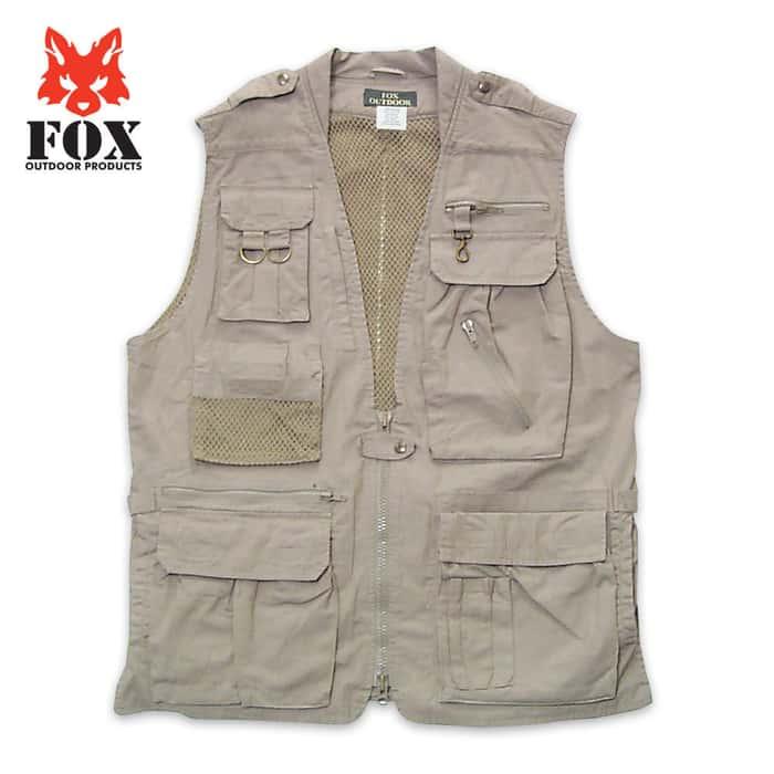 Fox Photo Safari Vest Khaki