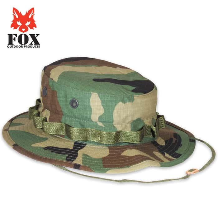 Fox Rip Stop Boonie Hat Woodland
