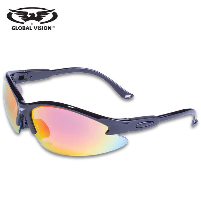 Looking for the ultimate in eye protection when you're out riding? Our Global Vision Cougar G-Tech Safety Sunglasses are perfect