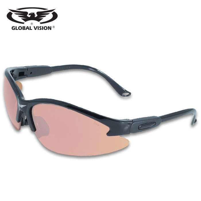 Our Global Vision Cougar Mirror Safety Sunglasses are a great-looking accessory