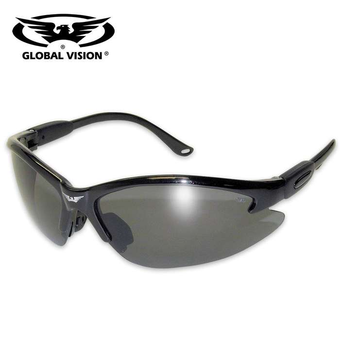 Global Vision Cougar Safety Sunglasses - Smoke