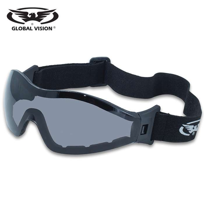 Our Global Vision Z-33 Smoked Motorcycle Goggles are the perfect accessory for your motorcycle
